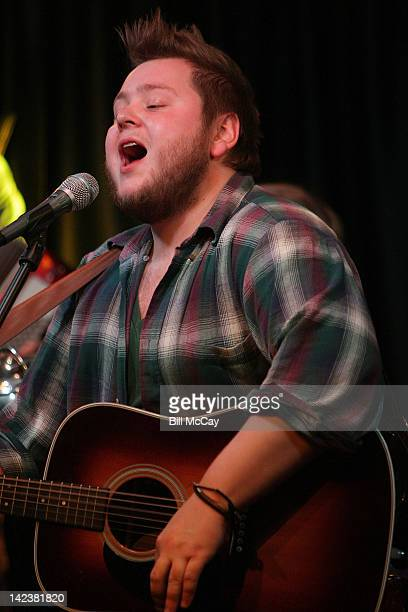 Ragnar Raggi Porhallsson from the band Of Monsters And Men performs at Radio Staion WRFF iHeartRadio Performance Theater April 3 2012 in Bala Cynwyd...