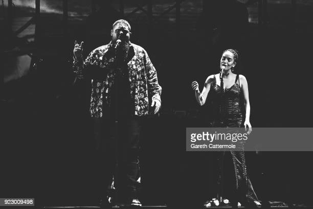 Rag'n'Bone Man and Jorja Smith perform at The BRIT Awards 2018 held at The O2 Arena on February 21 2018 in London England