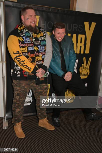 Rag'n'Bone Man and Professor Green attend the inaugural Visionary Honours Awards at BAFTA Piccadilly on February 8 2019 in London England