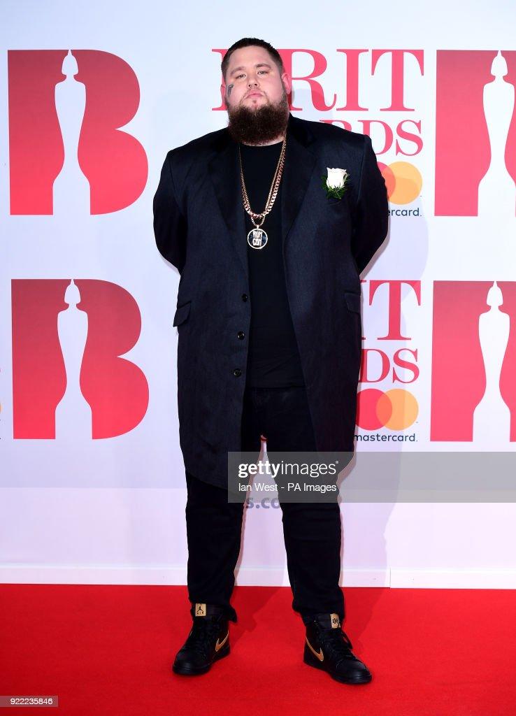 Rag'n'Bone Man attending the Brit Awards at the O2 Arena, London.