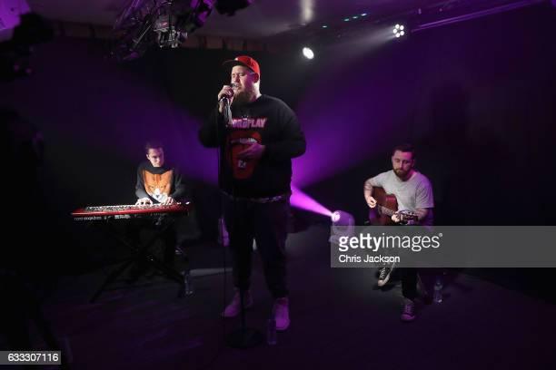 Rag'n'Bone Man performs as he visits Kiss Radio on February 1 2017 in London England