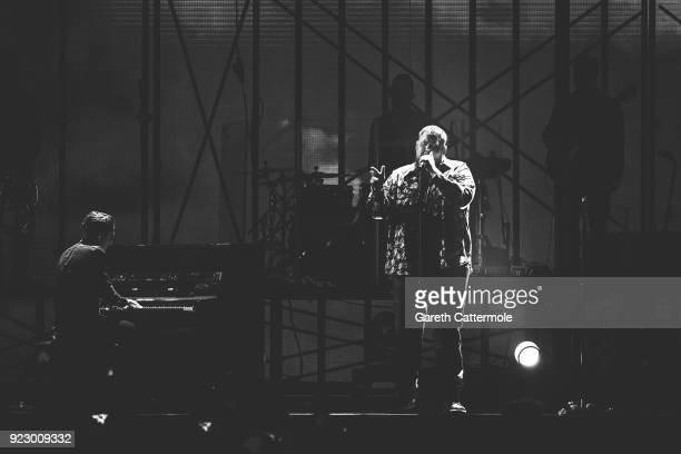 Rag'n'Bone Man performs at The BRIT Awards 2018 held at The O2 Arena on February 21 2018 in London England