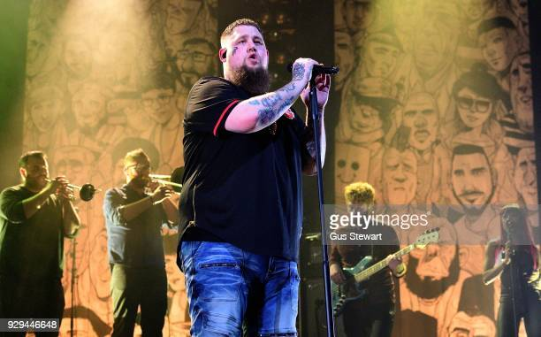 Rag'n'Bone Man performs on stage at Alexandra Palace on March 8 2018 in London England