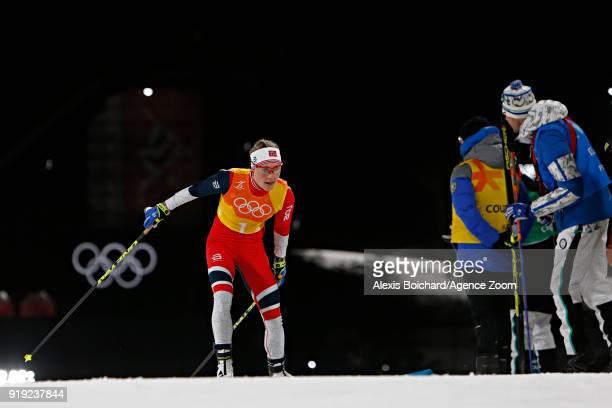 Ragnhild Haga of Norway competes during the CrossCountry Women's Relay at Alpensia CrossCountry Centre on February 17 2018 in Pyeongchanggun South...