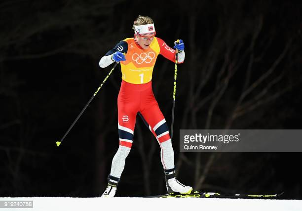 Ragnhild Haga of Norway competes during the Ladies' 4x5km Relay on day eight of the PyeongChang 2018 Winter Olympic Games at Alpensia CrossCountry...