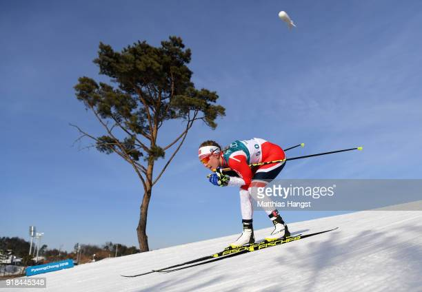 Ragnhild Haga of Norway skis on her way to winning the CrossCountry Skiing Ladies' 10 km Free on day six of the PyeongChang 2018 Winter Olympic Games...