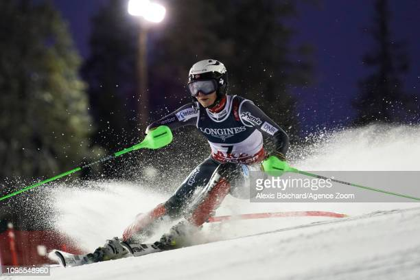 Ragnhild Haga of Norway wins the bronze medal during the FIS World Ski Championships Women's Alpine Combined on February 8 2019 in Are Sweden