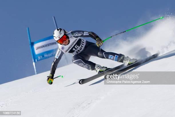Ragnhild Mowinckel of Norway competes during the Audi FIS Alpine Ski World Cup Women's Super G on December 8 2018 in St Moritz Switzerland