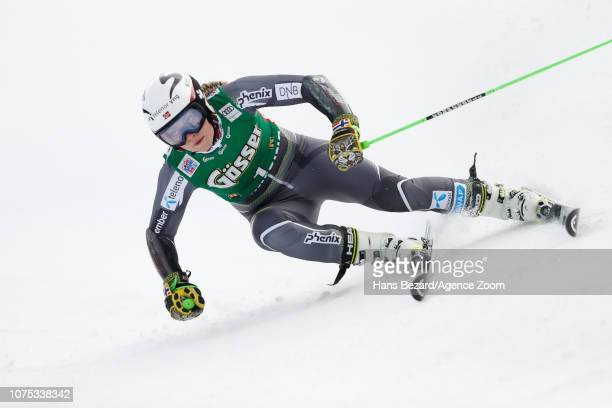 Ragnhild Mowinckel of Norway competes during the Audi FIS Alpine Ski World Cup Women's Giant Slalom on December 28 2018 in Semmering Austria