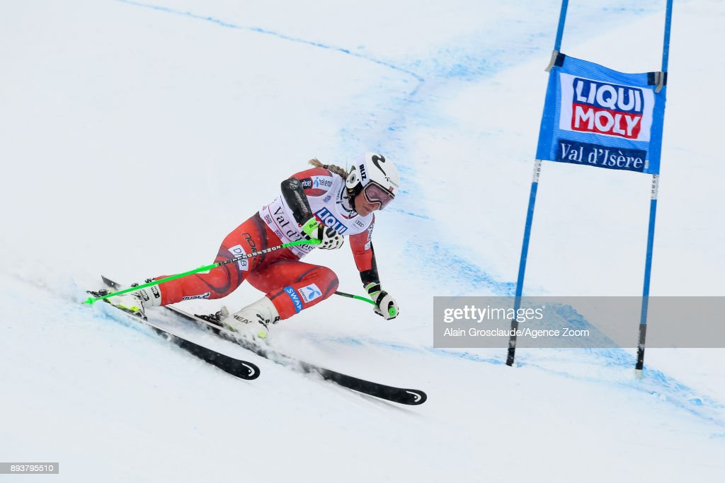 Ragnhild Mowinckel of Norway competes during the Audi FIS Alpine Ski World Cup Women's Super G on December 16, 2017 in Val-d'Isere, France.
