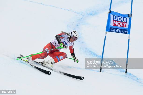 Ragnhild Mowinckel of Norway competes during the Audi FIS Alpine Ski World Cup Women's Super G on December 16 2017 in Vald'Isere France