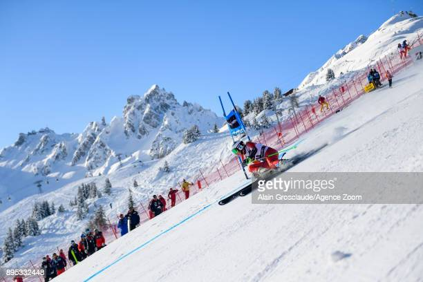 Ragnhild Mowinckel of Norway competes during the Audi FIS Alpine Ski World Cup Women's Giant Slalom on December 19 2017 in Courchevel France