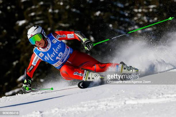 Ragnhild Mowinckel of Norway competes during the Audi FIS Alpine Ski World Cup Women's Giant Slalom on January 23 2018 in Kronplatz Italy