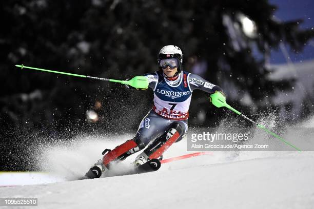 Ragnhild Mowinckel of Norway competes during the FIS World Ski Championships Women's Alpine Combined on February 8 2019 in Are Sweden