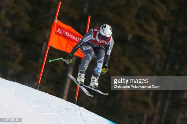 Ragnhild Mowinckel of Norway in action during the Audi FIS Alpine Ski World Cup Women's Downhill on December 1 2018 in Lake Louise Canada