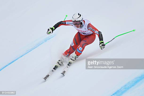 Ragnhild Mowinckel of Norway in action during the Audi FIS Alpine Ski World Cup Women's Combined on January 26 2018 in Lenzerheide Switzerland