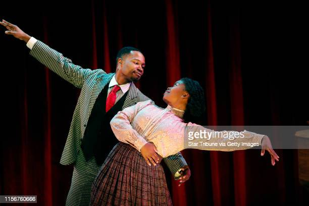 Ragtime actors David L Murray Jr and Traci Allen Shannon act out a scene during a dress rehearsal the Ritz Theater Tuesday September 20 2016 in...