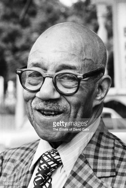 Ragtime pianist Eubie Blake poses for a portrait before performing at the Newport Jazz Festival in July 1971 in Newport Rhode Island