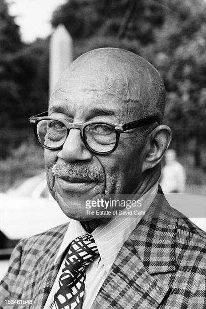 Ragtime pianist Eubie Blake poses for a portrait before performing at the Newport Jazz Festival in July, 1971 in Newport, Rhode Island.