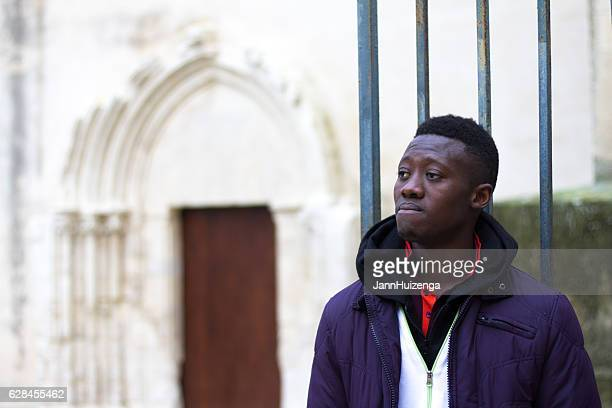 Ragusa, Sicily: Senegalese Migrant at Immigrant Reception Center