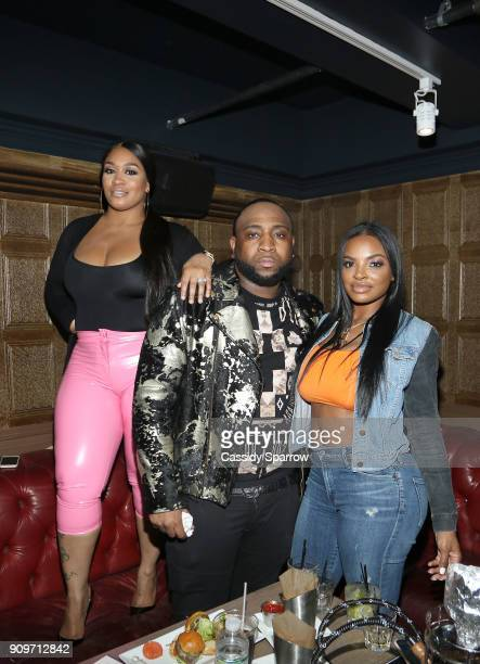 Rah Ali Colson Dempster and Brooke Bailey Attend The Eric Bellinger Grammy Week Lounge Lounge at Suite 36 on January 23 2018 in New York City
