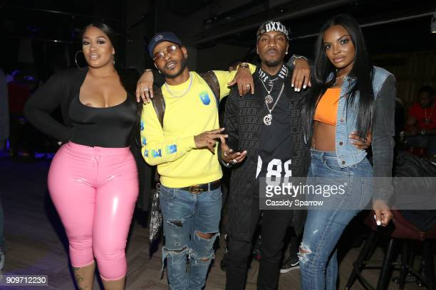Rah Ali Eric Bellinger Grafh and Brooke Bailey Attend The Eric Bellinger Grammy Week Lounge Lounge at Suite 36 on January 23 2018 in New York City