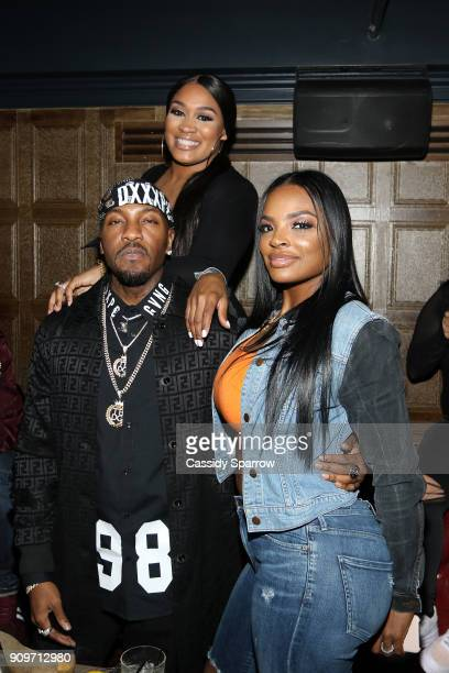 Rah Ali Grafh and Brooke Bailey Attend The Eric Bellinger Grammy Week Lounge Lounge at Suite 36 on January 23 2018 in New York City