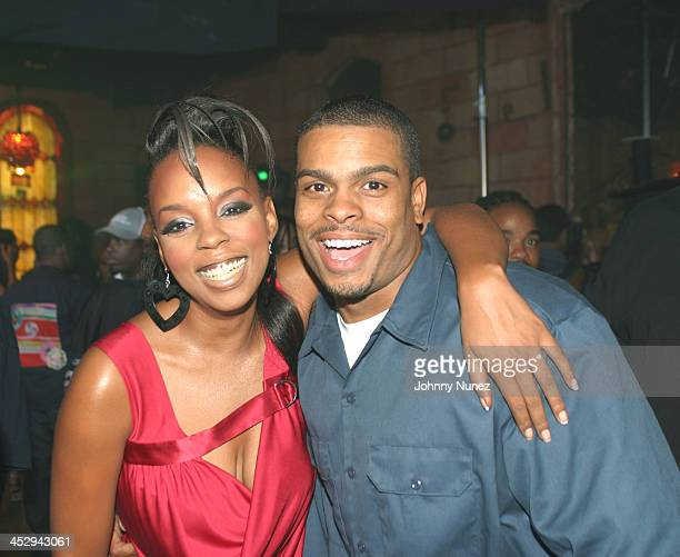 Rah Digga and video director Benny Boom during Rah Digga's Party And Bullshit Video Shoot at Diva Lounge in Montclair New Jersey United States