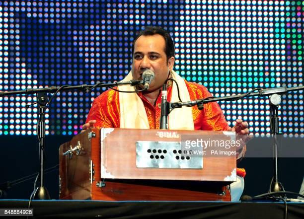Rahat Fateh Ali Khan performs at the Asian Music Awards at Wembley Arena in London