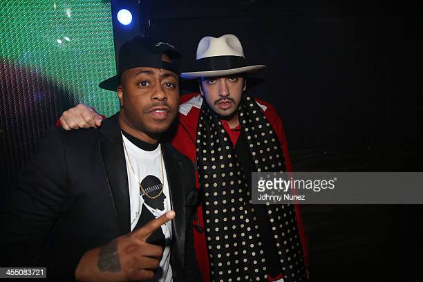 Raheem DeVaughn and DJ Cassidy attend the Busta Rhymes and QTip mixtape release party at Marquee on December 10 2013 in New York City