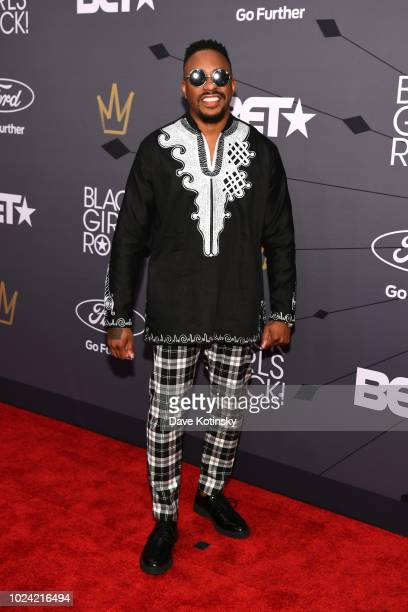 Raheem DeVaughn attends the Black Girls Rock 2018 Red Carpet at NJPAC on August 26 2018 in Newark New Jersey