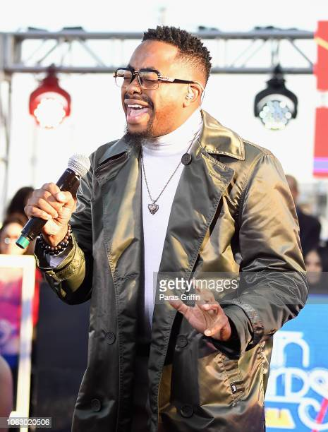 Raheem Devaughn performs onstage during the Pre Show of the 2018 Soul Train Awards presented by BET the Orleans Arena on November 17 2018 in Las...