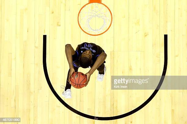 Raheem Johnson of the Buffalo Bulls goes up for a dunk in the first half against the West Virginia Mountaineers during the second round of the 2015...