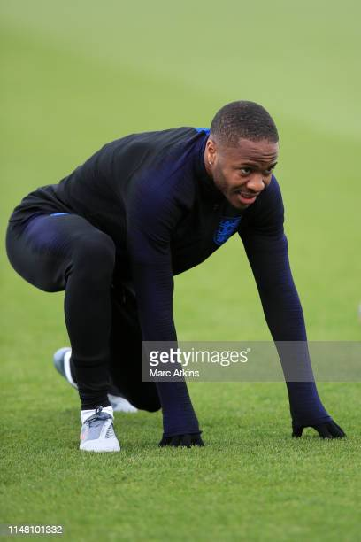 Raheem Sterling of England during an England training session on the eve of their UEFA Nations League match against the Netherlands at St Georges...