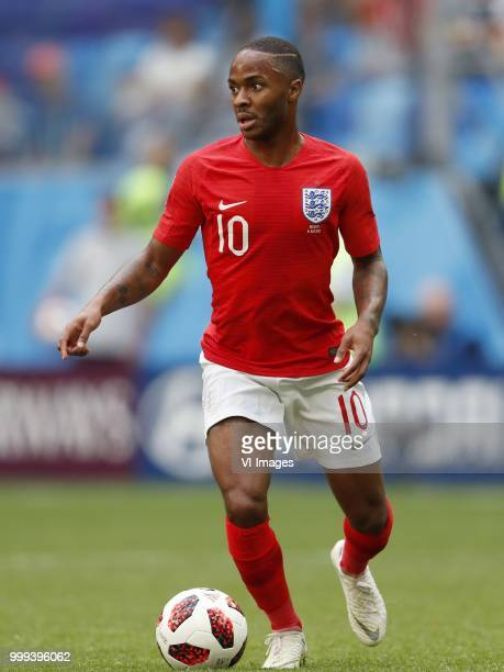 Raheem Sterling of England during the 2018 FIFA World Cup Playoff for third place match between Belgium and England at the Saint Petersburg Stadium...