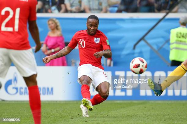 Raheem Sterling of England during the 2018 FIFA World Cup Russia 3rd Place Playoff match between Belgium and England at Saint Petersburg Stadium on...