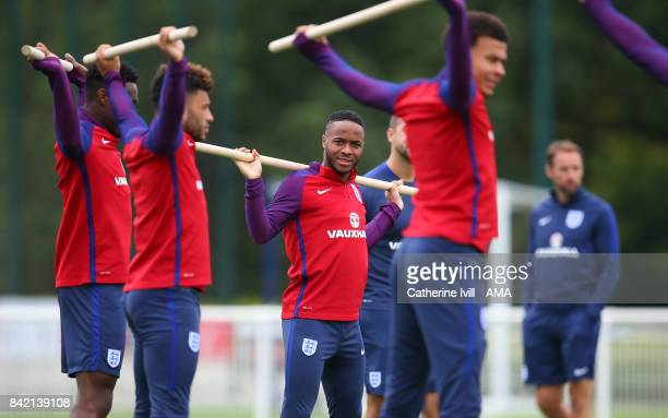 Raheem Sterling of England during the England Training Session on September 3 2017 in Enfield England