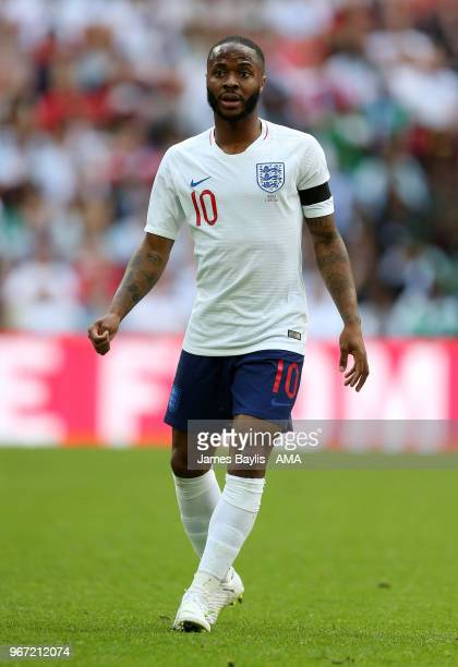 Raheem Sterling of England during the International Friendly between England and Nigeria at Wembley Stadium on June 2 2018 in London England