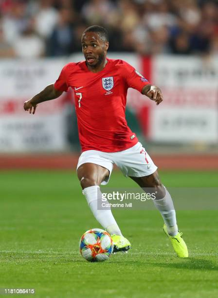 Raheem Sterling of England during the UEFA Euro 2020 qualifier between Bulgaria and England on October 14, 2019 in Sofia, Bulgaria.