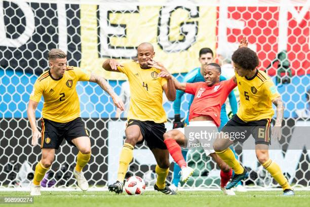 Raheem Sterling of England in action during the 2018 FIFA World Cup Russia 3rd Place Playoff match between Belgium and England at Saint Petersburg...