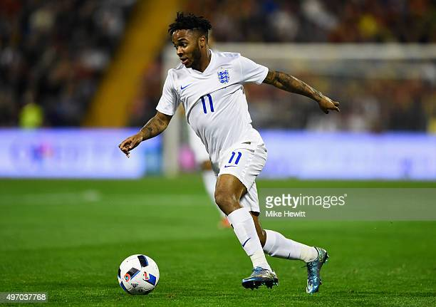 Raheem Sterling of England in action during the international friendly match between Spain and England at Jose Rico Perez Stadium on November 13 2015...