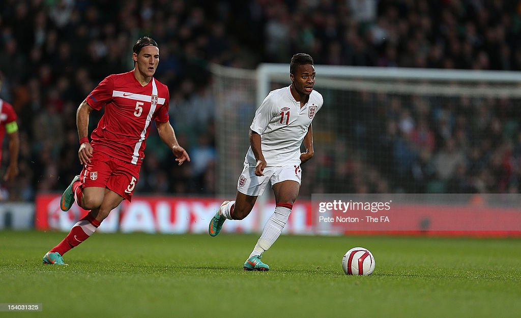 England U21 v Serbia U21 - Under 21 European Championship Play Off : News Photo