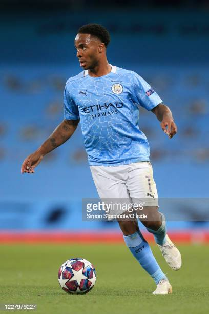 Raheem Sterling of Man City in action during the UEFA Champions League round of 16 second leg match between Manchester City and Real Madrid at Etihad...
