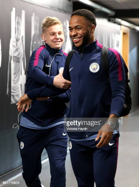 Raheem Sterling of Manchester City arrives at the stadium prior to the Premier League match between Swansea City and Manchester City at Liberty...