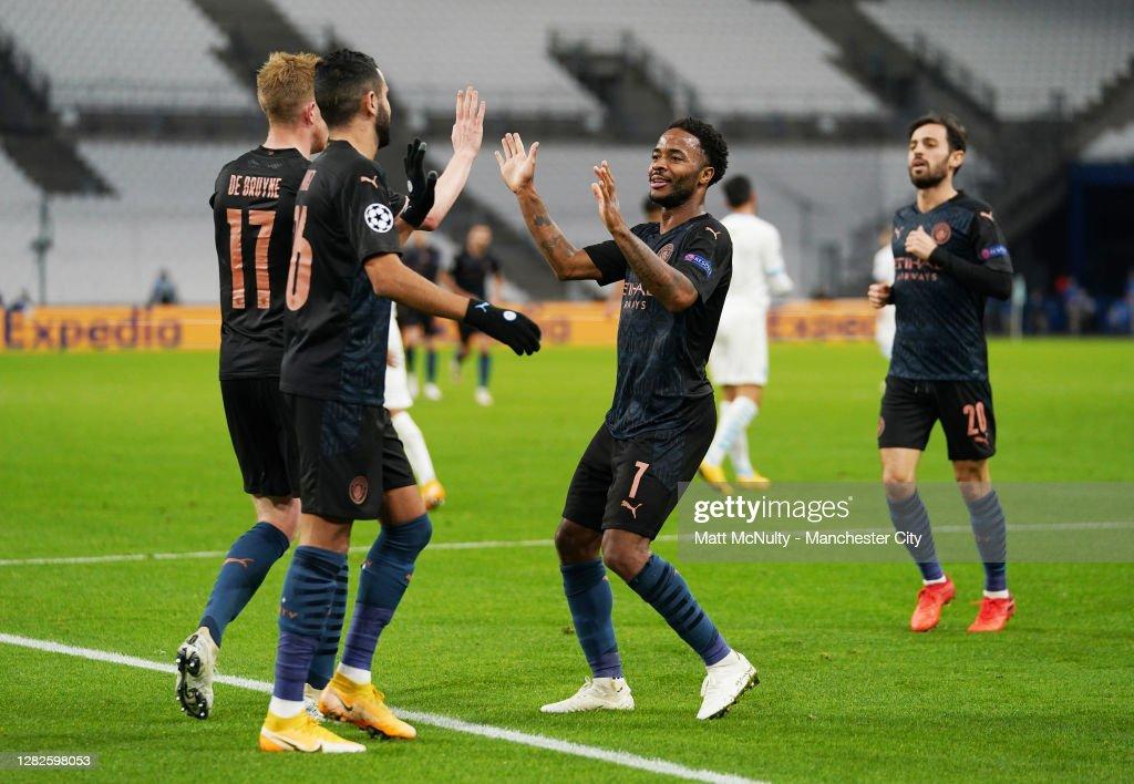 Olympique de Marseille v Manchester City: Group C - UEFA Champions League : Nachrichtenfoto