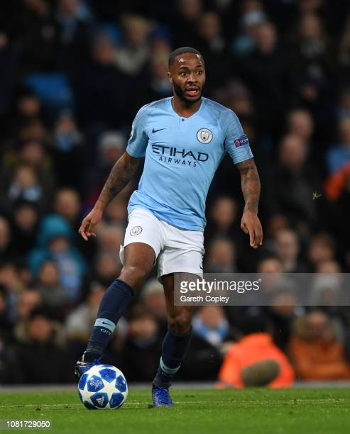 Raheem Sterling of Manchester City during the UEFA Champions League Group F match between Manchester City and TSG 1899 Hoffenheim at Etihad Stadium...