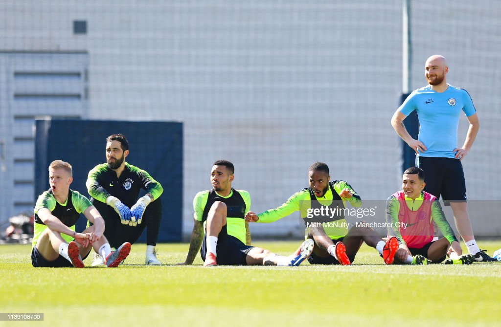Manchester City Training and Press Conference : News Photo