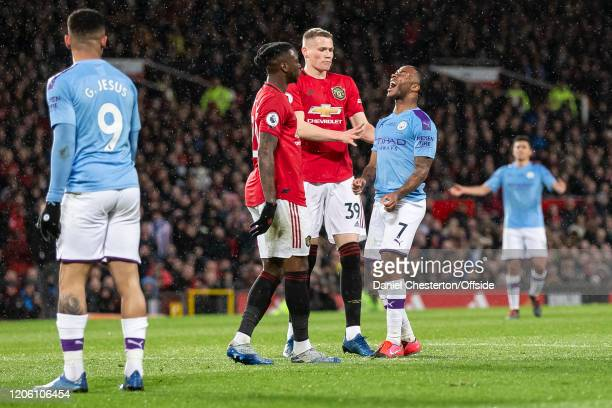 Raheem Sterling of Manchester City looks dejected after a missed chance during the Premier League match between Manchester United and Manchester City...