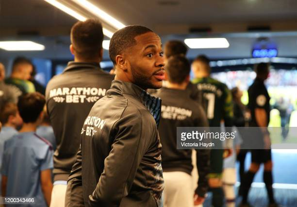 Raheem Sterling of Manchester City waits in the tunnel prior to the Premier League match between Manchester City and Crystal Palace at Etihad Stadium...