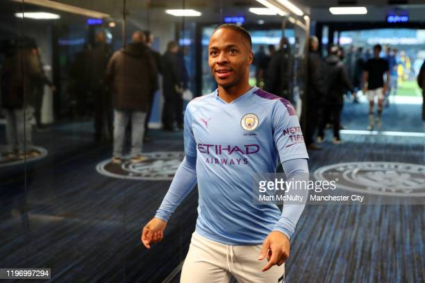 Raheem Sterling of Manchester City walks through the tunnel after the Premier League match between Manchester City and Everton FC at Etihad Stadium...